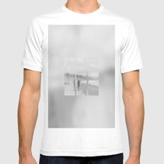 A Nonexistent Walk  White Mens Fitted Tee MEDIUM