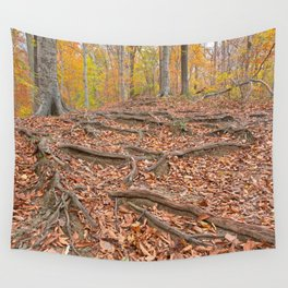 Autumn Avalon Forest Trail Wall Tapestry