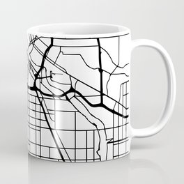 MINNEAPOLIS MINNESOTA BLACK CITY STREET MAP ART Coffee Mug