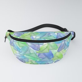 Placer precious stones, yellow , green , blue . Fanny Pack