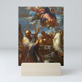 Giovanni Battista Lenardi The Assumption of the Virgin with Saints Anne and Nicholas of Myra Mini Art Print