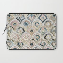 Art Deco Marble Tiles in Soft Pastels Laptop Sleeve