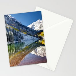 Maroon Bells Colorado Aspen USA Stationery Cards