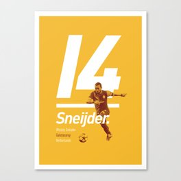 Sneijder Galatasaray Canvas Print