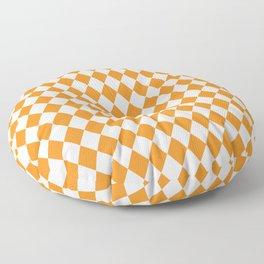 Butterscotch Gold Modern Diamond Pattern Floor Pillow