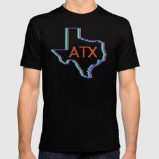 ATX Austin, Texas Retro Neon Lights MEDIUM Mens Fitted Tee Black