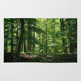 Pine tree woods Rug
