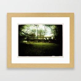 Old Barn - Sepia Framed Art Print