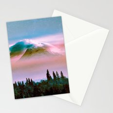 Mountains - Mt. Hood Pink Sunset Stationery Cards