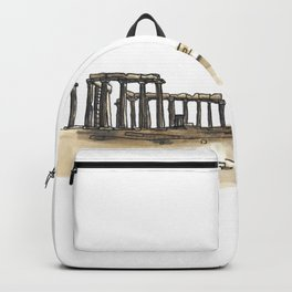 Greek Temple Ruins Backpack