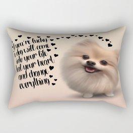 If You're Lucky... Rectangular Pillow