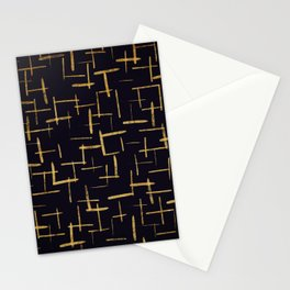Gold Paint Brush #2 Stationery Cards