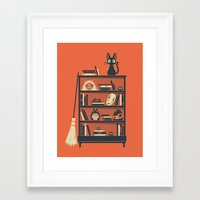 miyazaki Framed Art Prints featuring Ghibli Shelf // Miyazaki by Daniel Mackey