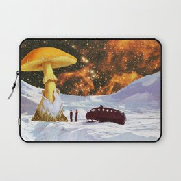 Withe Planet Laptop Sleeve