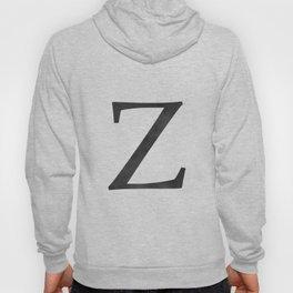 Letter Z Initial Monogram Black and White Hoody
