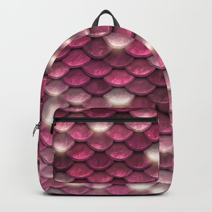 Pink mermaid glitter sparkling scales -  Mermaid Scales on #Society6 Backpack