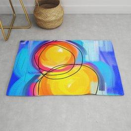 Paint abstract circle Rug