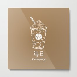 Iced Coffee (mainichi) Metal Print