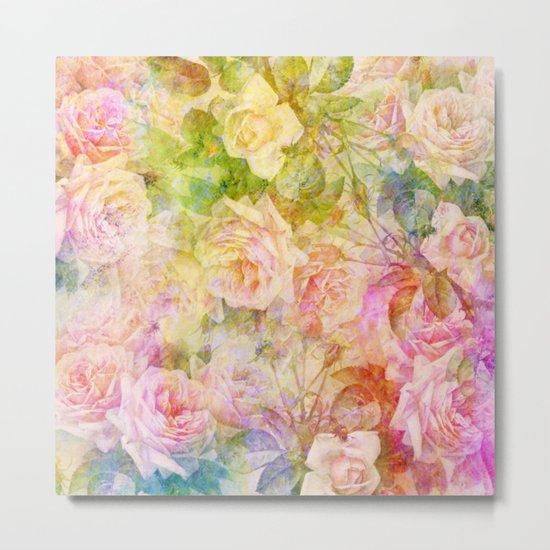 douces roses Metal Print