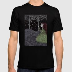 My Winter Stars Black SMALL Mens Fitted Tee