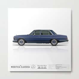 Mercedes Benz 1971 250 W114 Sedan Metal Print