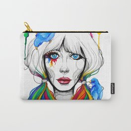 Zooey - Twisted Celebrity Watercolor Carry-All Pouch
