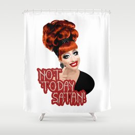 'Not Today Satan!' Bianca Del Rio, RuPaul's Drag Race Queen Shower Curtain