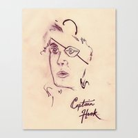 captain hook Canvas Prints featuring Captain Hook by EXPO