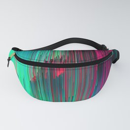 Just Chillin' - Abstract Neon Glitch Pixel Art Fanny Pack