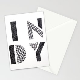 Indy Indianapolis Indiana Stationery Cards