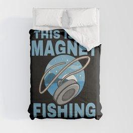 Magnet Fisherman Fishing Shirt Gift  Comforters