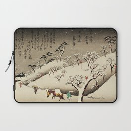 Lingering Snow at Asukayama Japan Laptop Sleeve