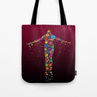 philippines Tote Bags featuring Oblation Flowers by MUSENYO