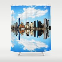 new york Shower Curtains featuring New York New York by haroulita