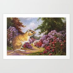 Banishing clouds in Kew Art Print