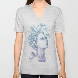 Shadows of My Soul (A Portrait of a Life's Lingering Past) Unisex V-Neck