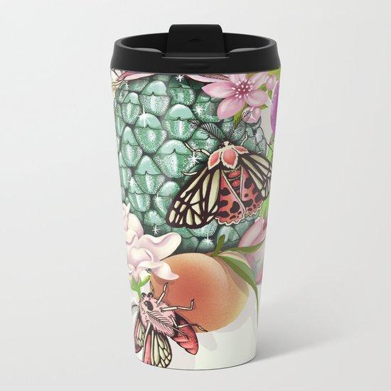 Glam Tropical - silver version Metal Travel Mug