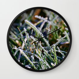 Frosty Morning Dew Wall Clock
