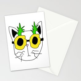 Cat Pineapple Sunglasses Stationery Cards