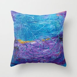 Purple/Blue Abstract Throw Pillow