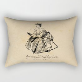 Lousia May Alcott - Good Books Rectangular Pillow