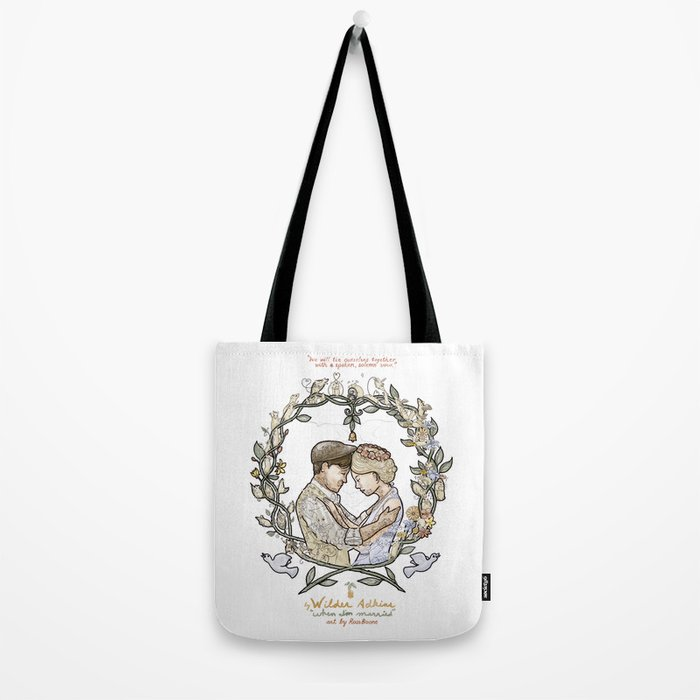 "White background illustration for video of song by Wilder Adkins, ""When I'm Married"" Tote Bag"