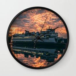 Friday Harbor Ferry Wall Clock