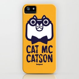 Cat Mc Catson iPhone Case