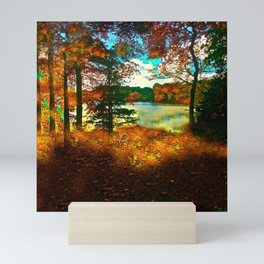 Trees and Shadows in New England Mini Art Print