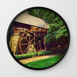 Gristmill - Charlottesville, Virginia Wall Clock