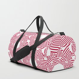 Candy cane flower pattern 8 Duffle Bag