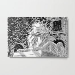 The Lion at New York Public Library Metal Print