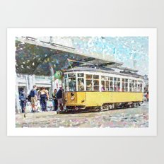 San Francisco Muni F Car at Embarcadero Station by Mark Gould Art Print