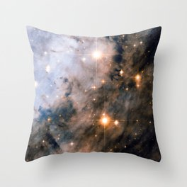 Into the Depths of the Eagle Nebula Throw Pillow